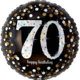 Sparkling Celebration Prismatic 70th Birthday Balloon, 17-1/2-in