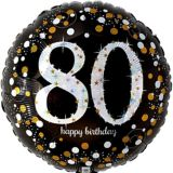 Sparkling Celebration Prismatic 80th Birthday Balloon, 17-1/2-in