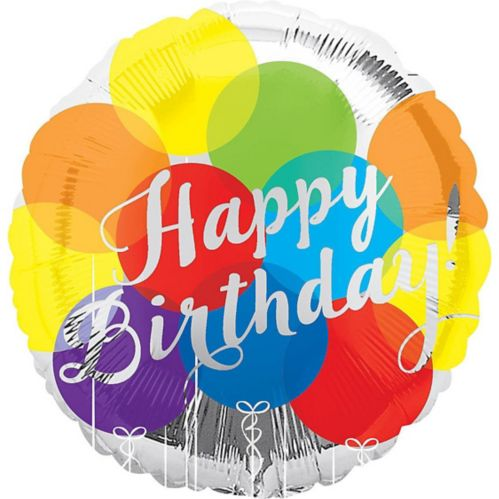 Rainbow Balloons Happy Birthday Balloon, 17-in Product image