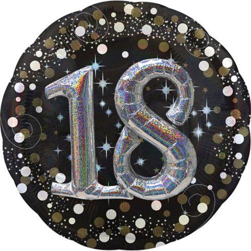 Ballon 3D scintillant pour fête de 18ans, 32po