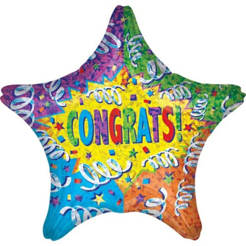 Giant Congrats Star Balloon, 28-in