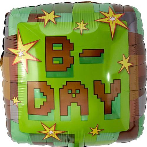 Pixelated Birthday Balloon