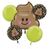 Poop Icon Balloon Bouquet, 5-pc
