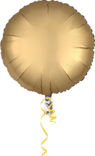 Satin Round Balloon, 17-in