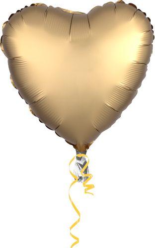 Ballon en coeur satiné, 17po