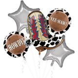 Yeehaw Western Balloon Bouquet, 5-pc