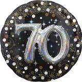 3D Sparkling Celebration 70th Birthday Balloon, 36-in