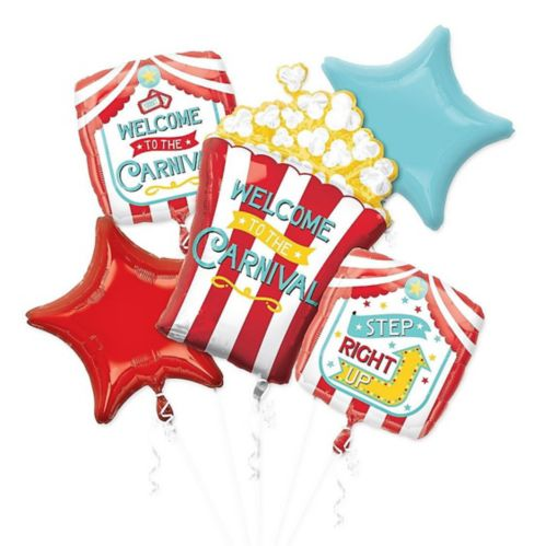 Carnival Balloon Bouquet, 5-pc