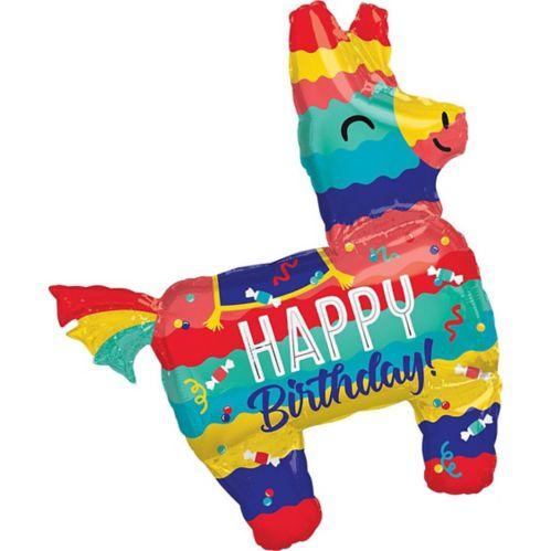 Ballon d'anniversaire géant de lama coloré, 43po