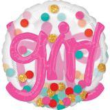 3D Girl Polka Dot Balloon, 36-in