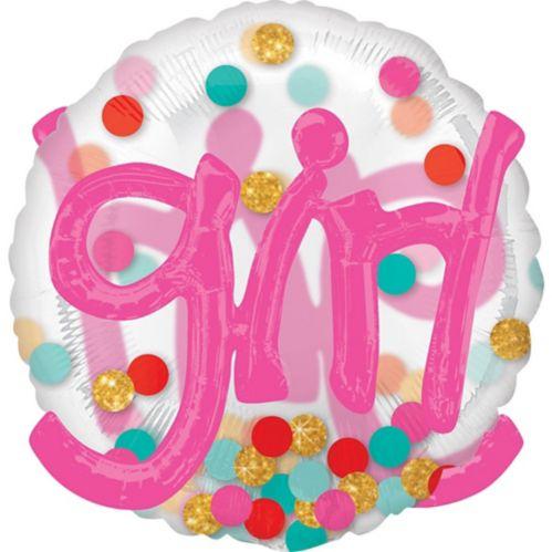 3D Girl Polka Dot Balloon, 36-in Product image