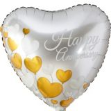 Happy Anniversary Heart Balloon, 17-in
