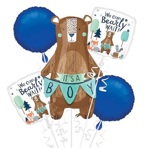 It's a Boy Bear Balloon Bouquet, 5-pc Product image
