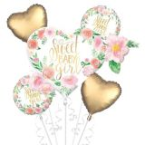 Floral Sweet Baby Girl Balloon Bouquet, 5-pc