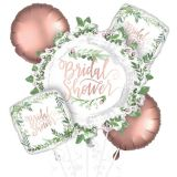 Floral Greenery Bridal Shower Balloon Bouquet, 5-pc