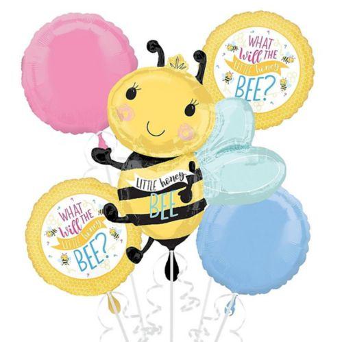 Little Honey Bee Balloon Bouquet, 5-pc