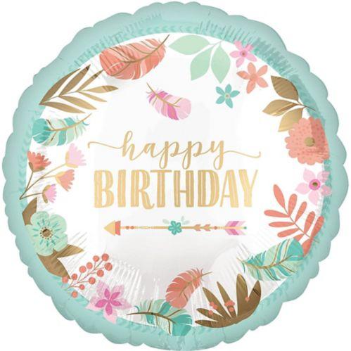 Ballon d'anniversaire, bohémien, 43 cm Image de l'article