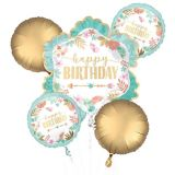 Boho Birthday Balloon Bouquet, 5-pc