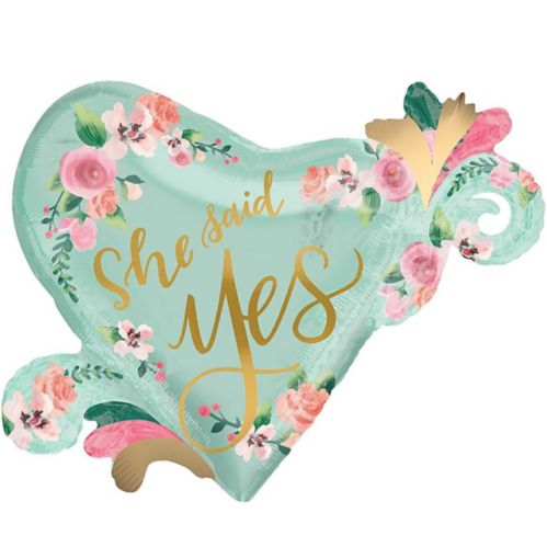 Giant Mint to Be Bridal Shower Heart Balloon, 26-in Product image