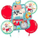 Friendly Farm Balloon Bouquet, 5-pc