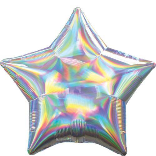 Iridescent Silver Star Balloon
