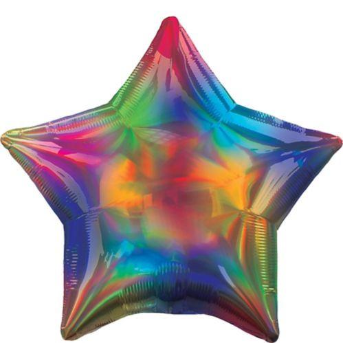 Iridescent Rainbow Star Balloon