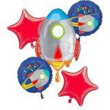 Blast Off Balloon Bouquet, 5-pc