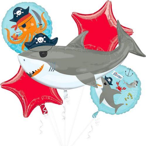 Bouquet de ballons de requin pirate, paq. 5