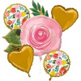 Bright Florals Balloon Bouquet, 5-pc