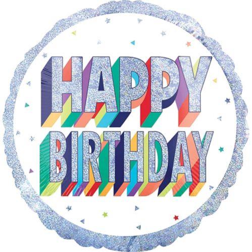 Ballon d'anniversaire prismatique arc-en-ciel