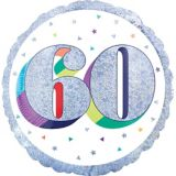 Prismatic Rainbow 60th Birthday Balloon