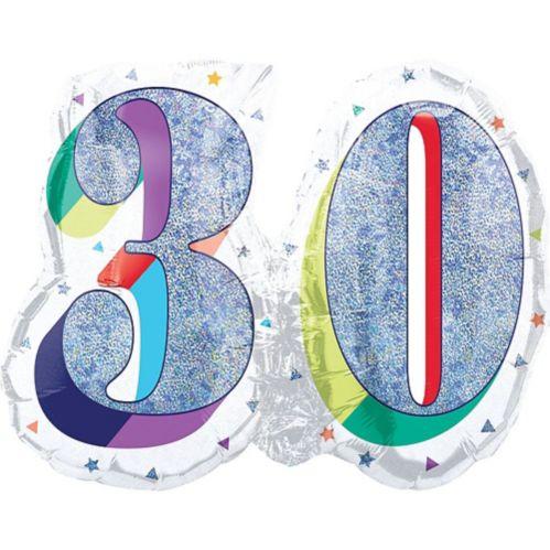 Ballon Prismatique Arc-en-ciel 30 Ans