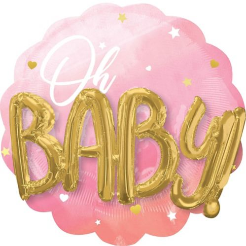 Pink Oh Baby 3D Balloon, 28-in Product image