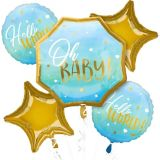 Blue Oh Baby Baby Shower Balloon Bouquet, 5-pc