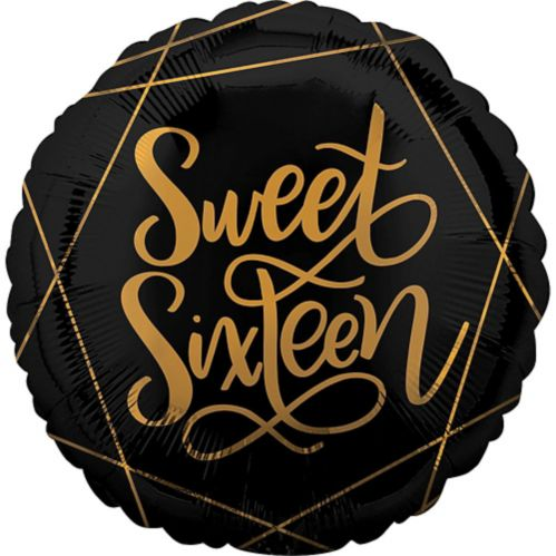 Art Deco Sweet Sixteen Balloon