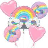 Bouquet de ballons d'anniversaire, arc-en-ciel magique, paq. 5