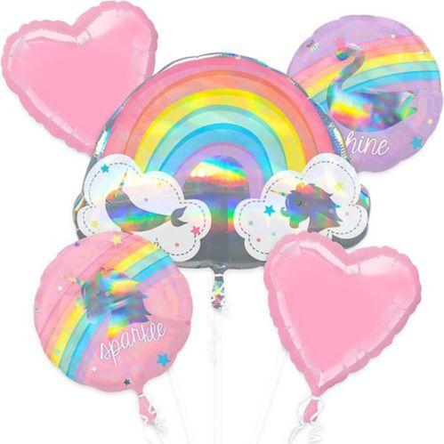 Bouquet de ballons d'anniversaire, arc-en-ciel magique, paq. 5 Image de l'article