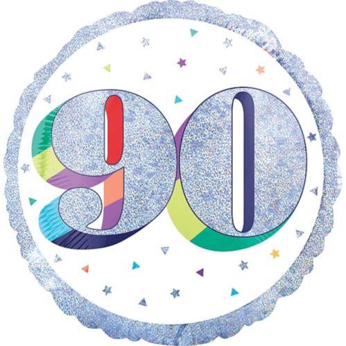 Prismatic Rainbow 90th Birthday Balloon