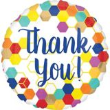 Colourful Thank You Balloon, 17-in