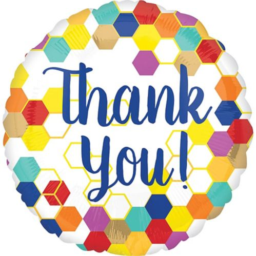 Colourful Thank You Balloon, 17-in Product image