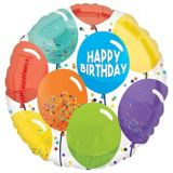 Ballons Anniversaire Multicolores | Amscannull