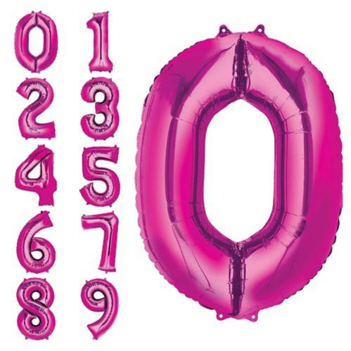 Ballons à chiffres, rose