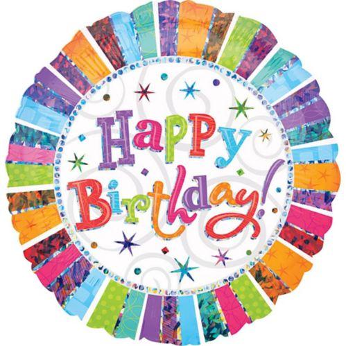 Ballon Happy Birthday rayonnant, 36po