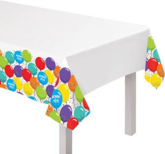 Bonne Fete Plastic Table Covers
