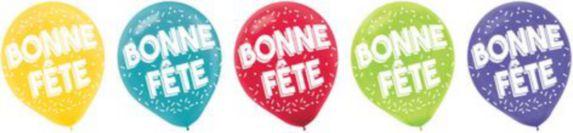Bonne Fete Latex Balloons, 72-pk Product image