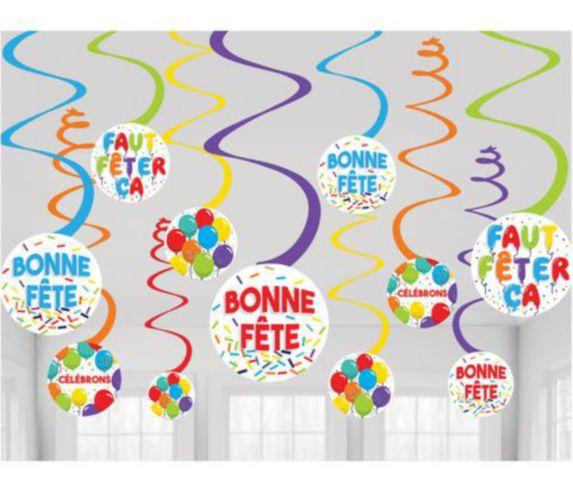 Décoration tourbillon Bonne Fête Image de l'article