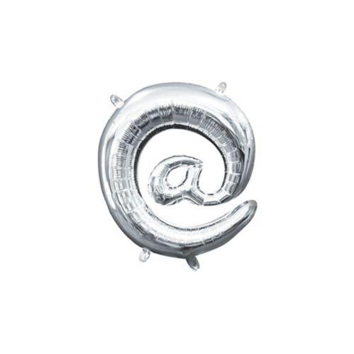 Ballon gonflable à l'air, symbole a commercial, argenté