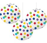 Lanterne ronde en papier arc-en-ciel | Amscannull