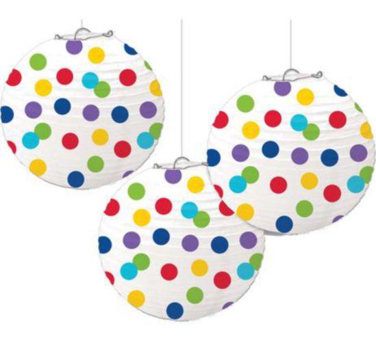 Lanterne ronde en papier arc-en-ciel