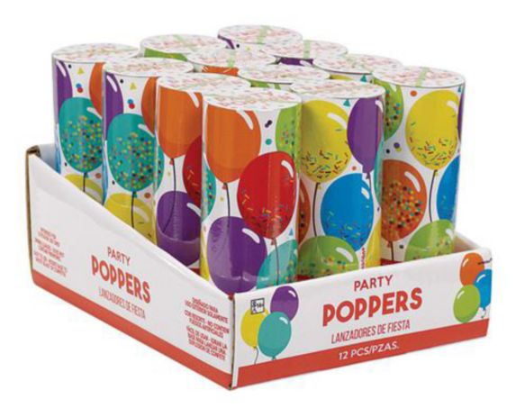 Birthday Confetti Poppers